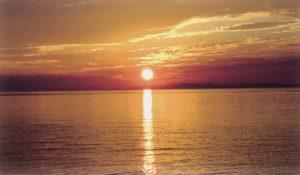 白浜の夕日